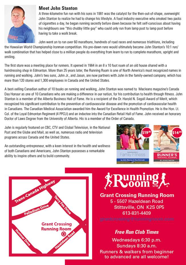 Running Room Run Club Hazeldean