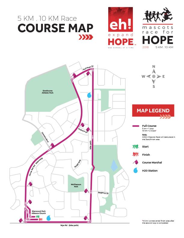 Mascots Race2018 Course Map