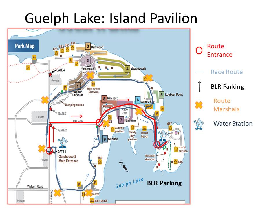 Guelph Lake Run Route