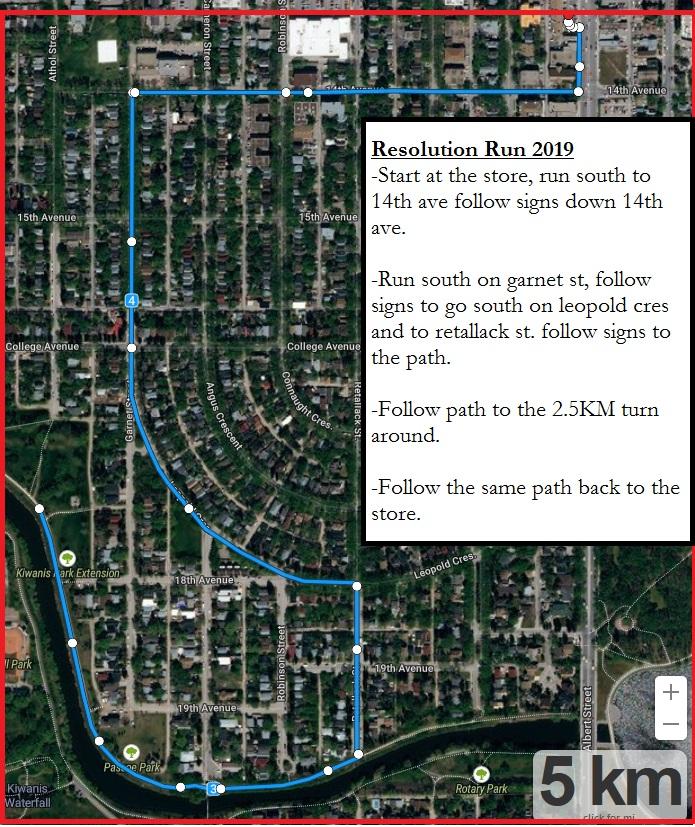Regina res run map2019