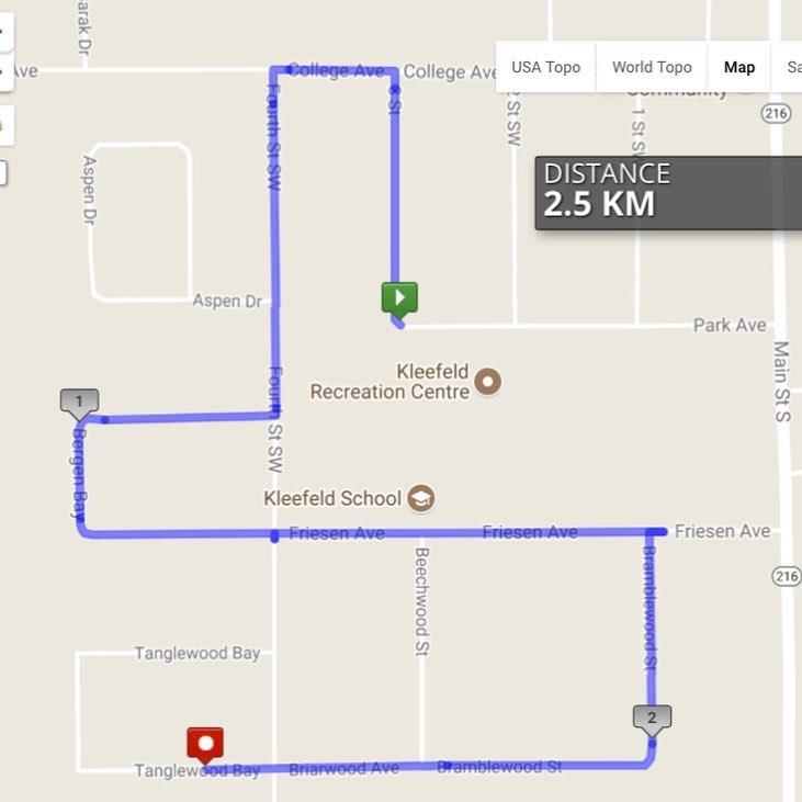 Honey Run Route