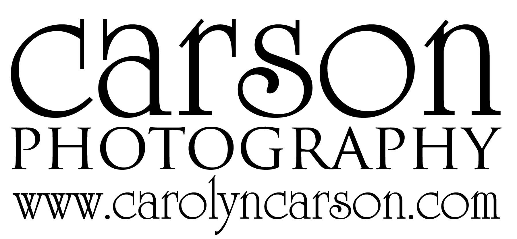 Carson Photography Text Logo Large