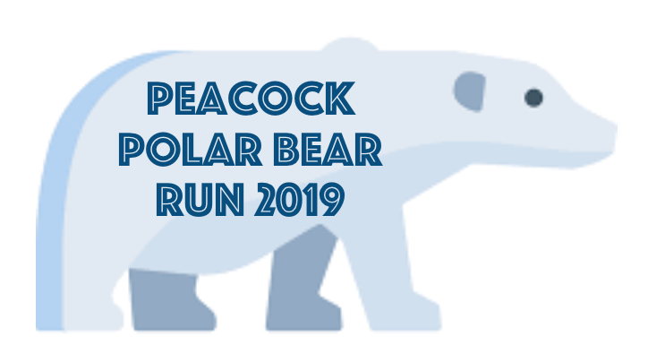 Peacock Polar Bear Run Logo