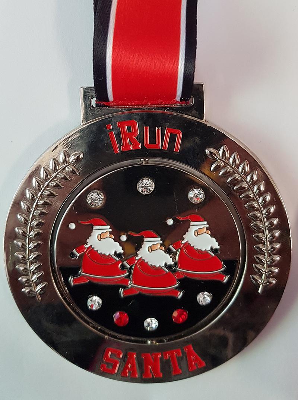 1 Run Santamedal