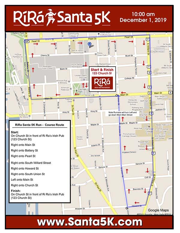 2019 Ri Ra Santa Course Map