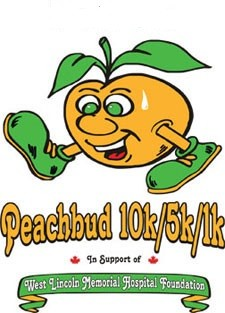 Peachbud 10K, 5K, and 1K - 2020 Logo