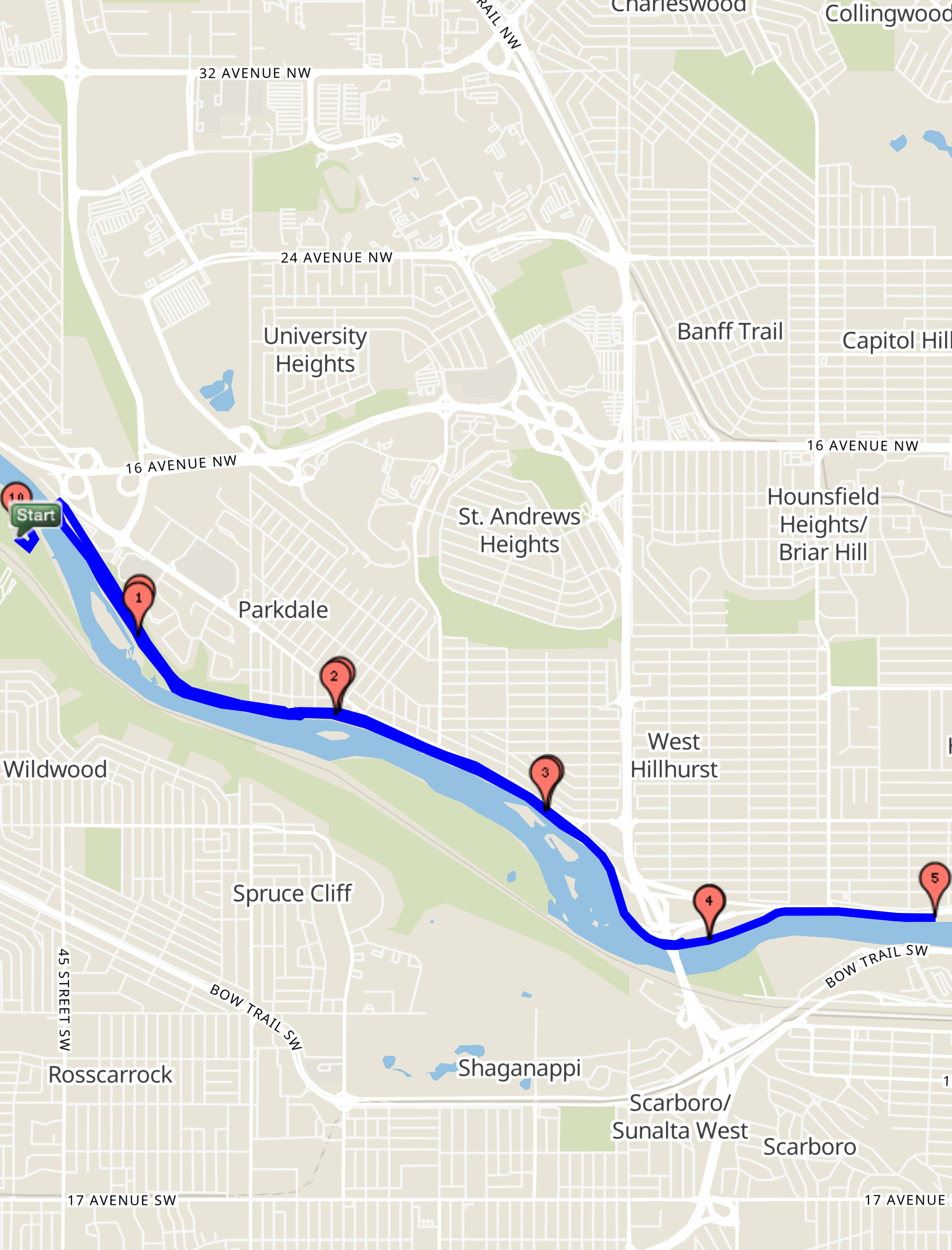 Calgary Ice Cream Run10 KM