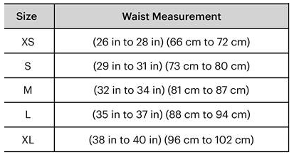Zipster Waist Sizes