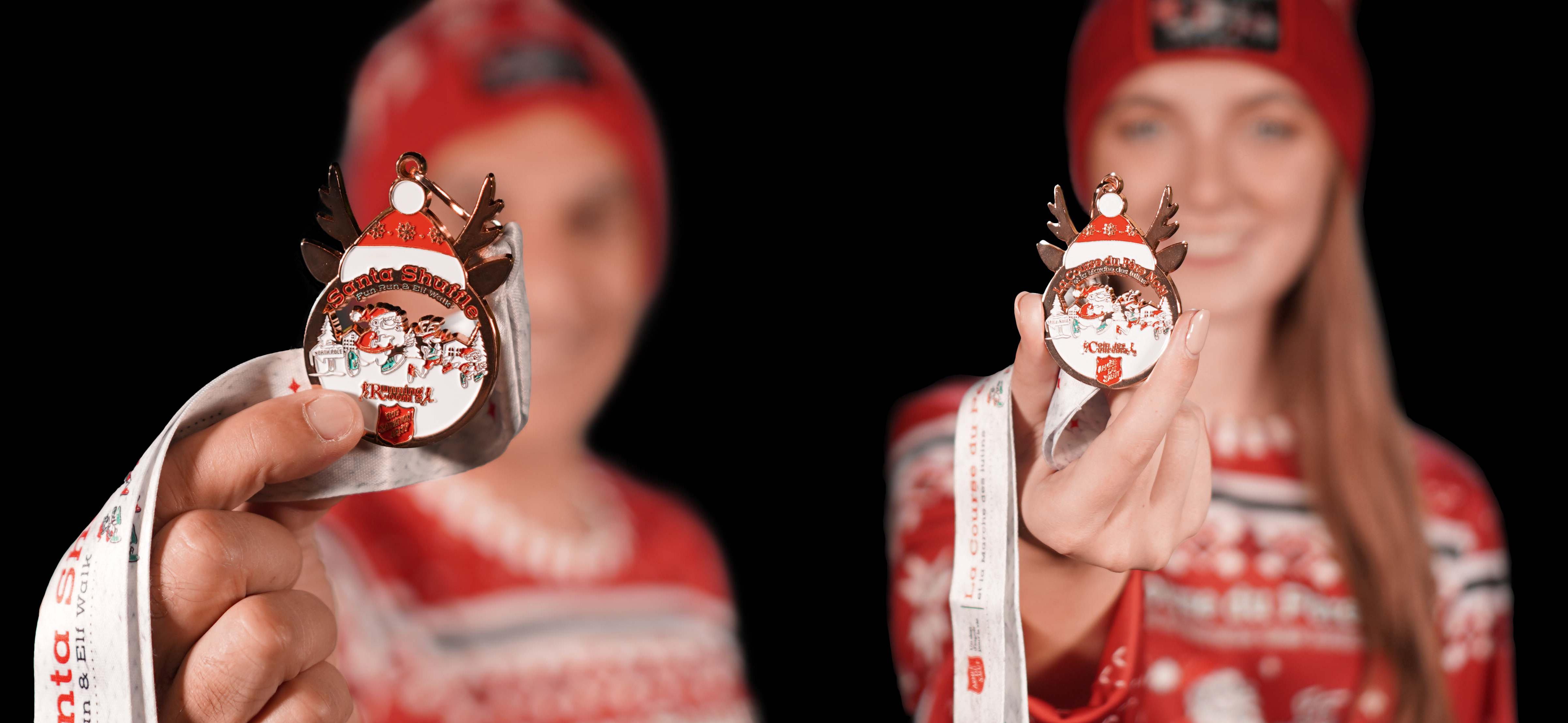 Santa Shuffle Medals2021