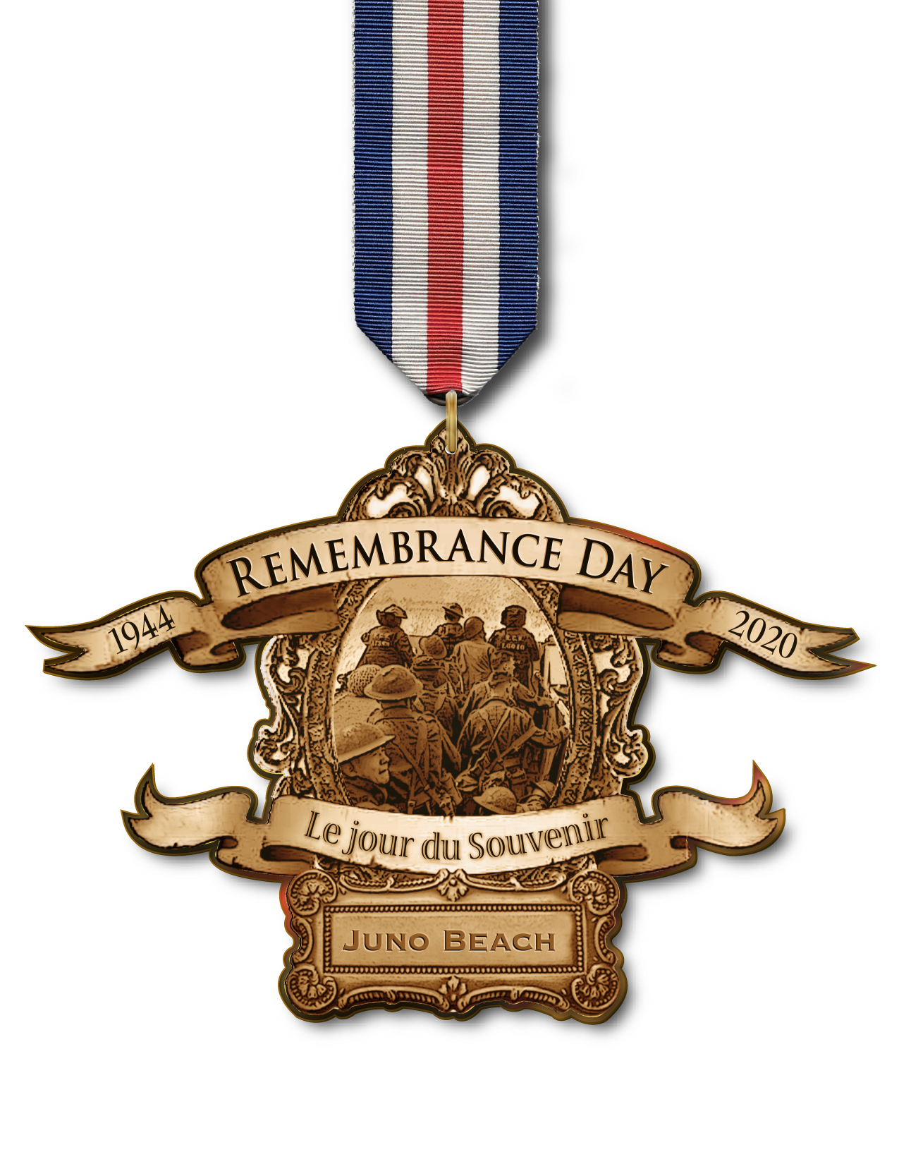 Remembrance Day Juno Beachmedal