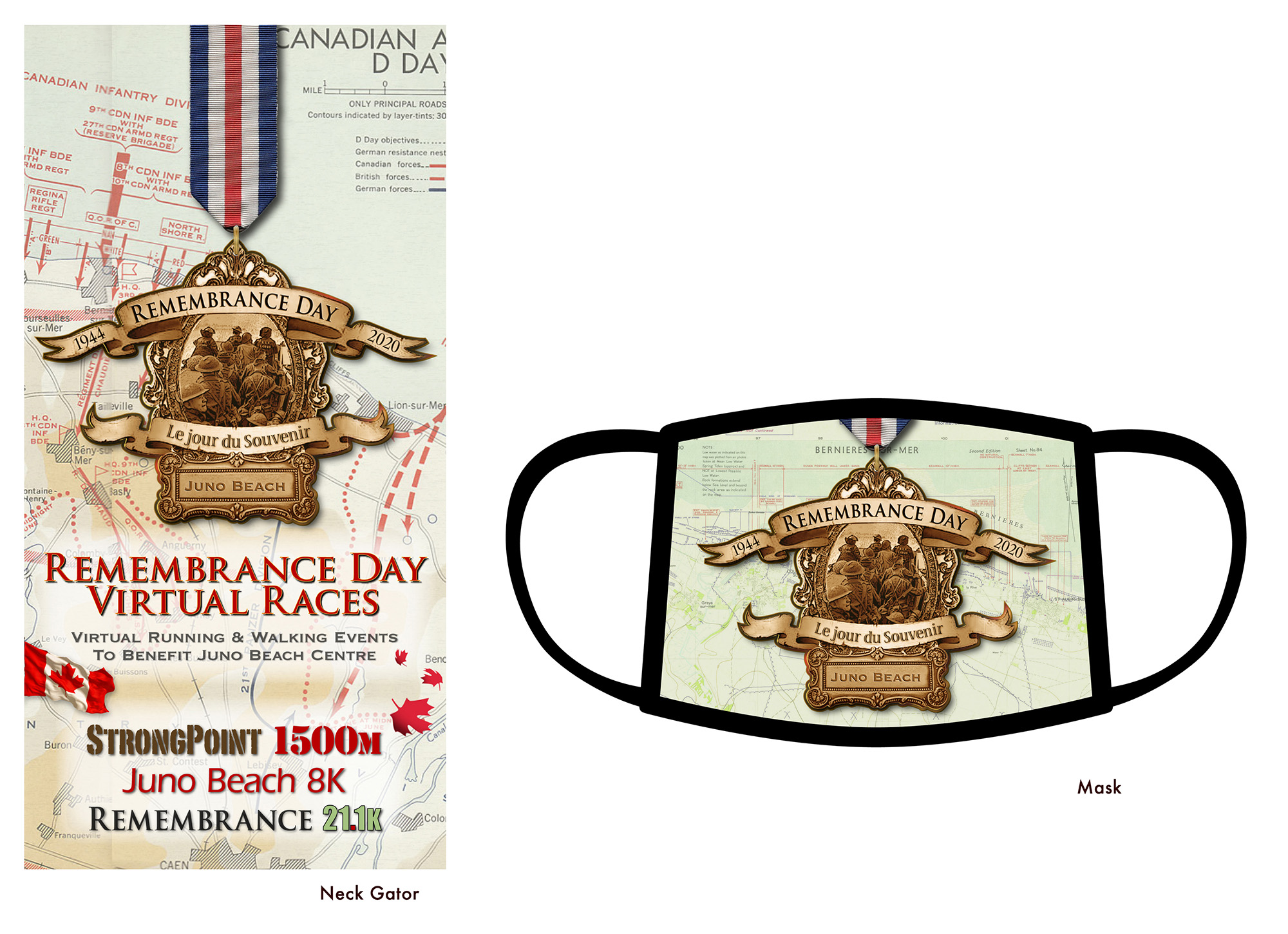 Remembrance Day neckgaitor mask