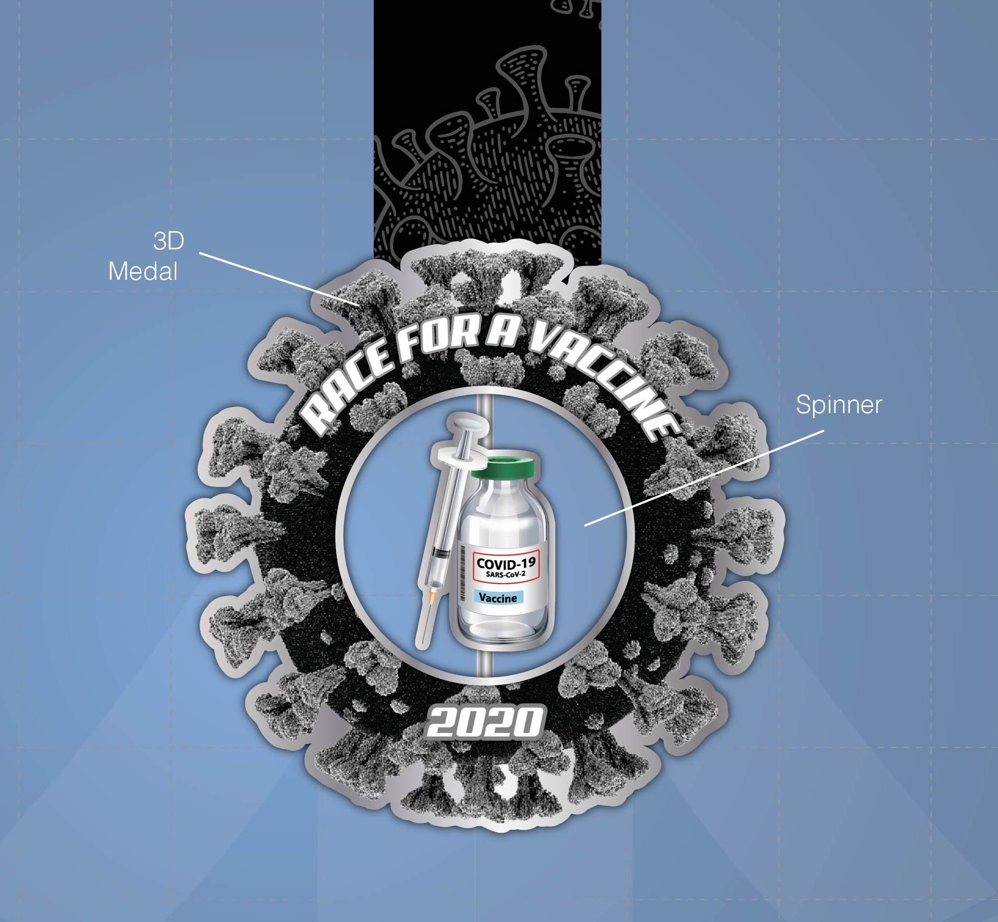 2020 Race For A Vaccine Medals r1