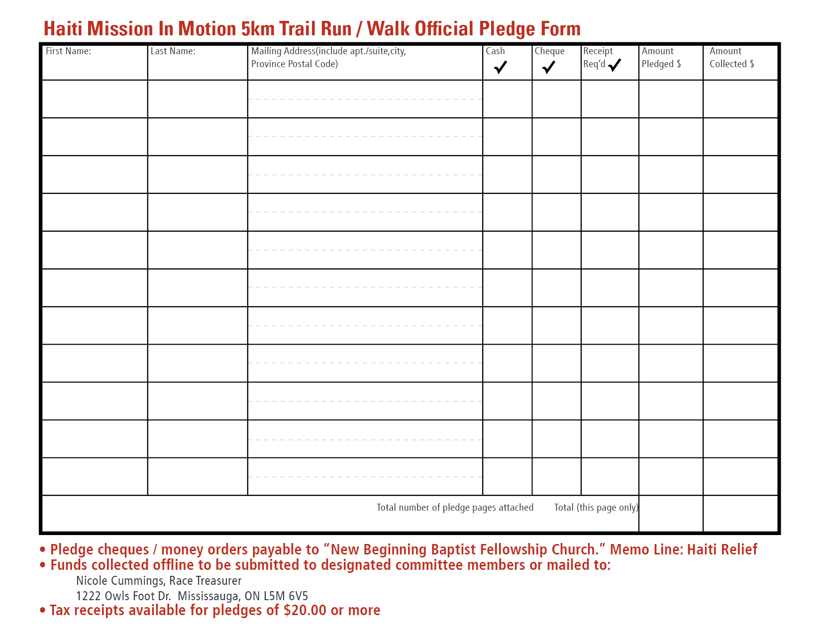 Doc401523 Sample Donation Sheet Sample Free Donation Form – Sponsored Walk Form Template