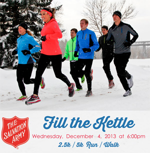 Bank Street Running Room 901 Ottawa ON K1S 3W5 Date Wednesday December 4 2013 Time 600pm